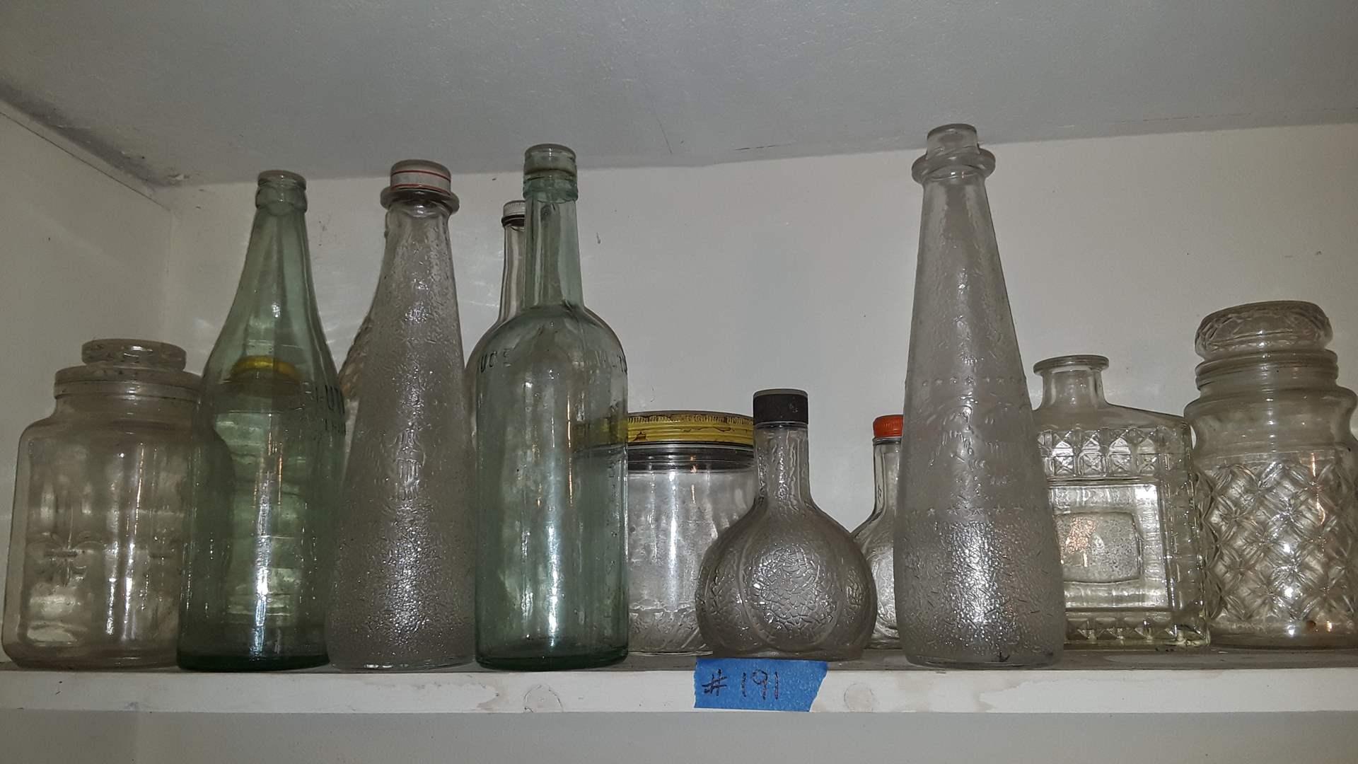 Lot # 191 ANTIQUE BOTTLES AND JARS