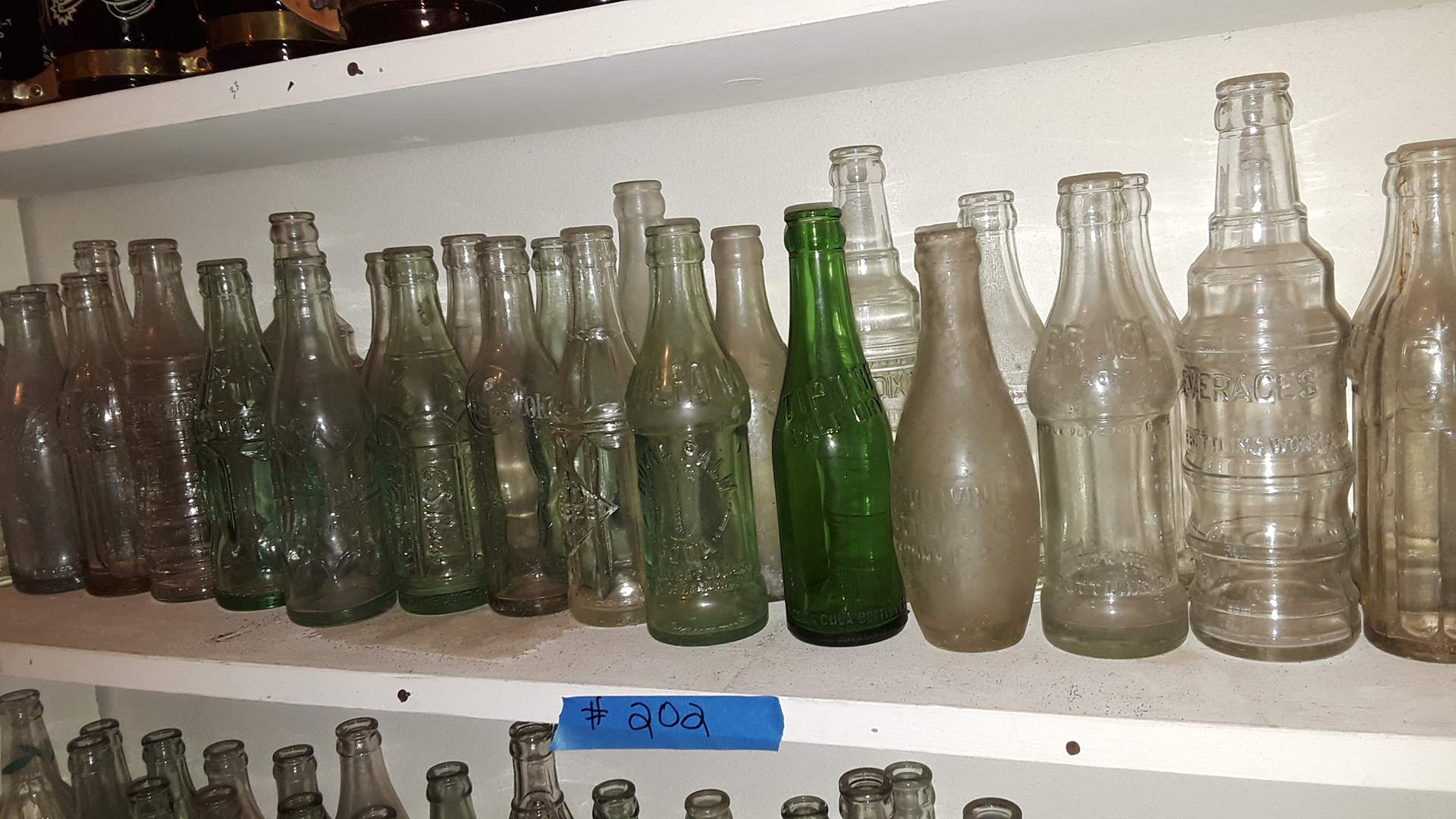 Lot # 202 COLLECTIBLE SODA BOTTLES, ROYAL PALM, TIP TOP, BRUCE