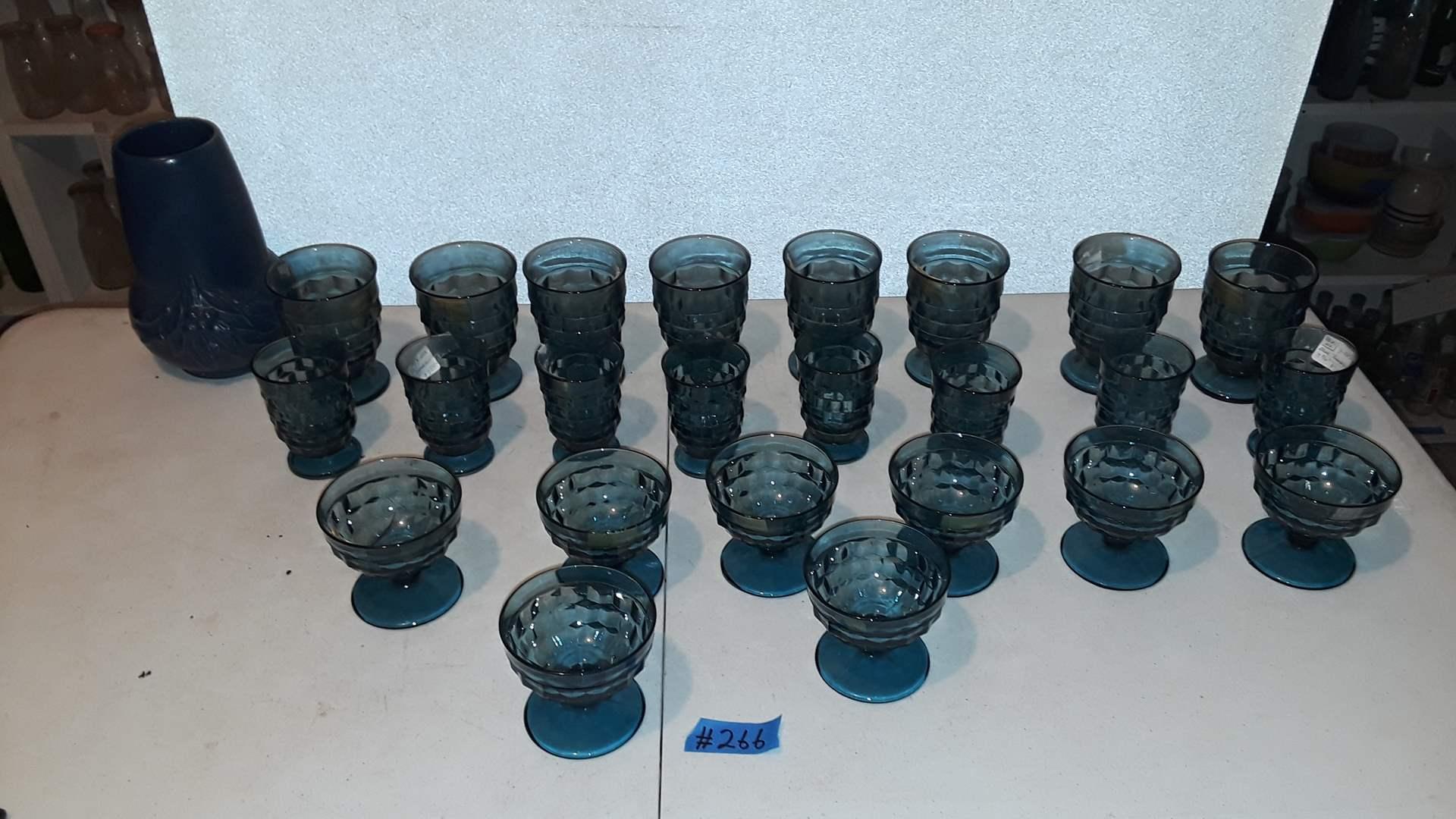 Lot # 266 VINTAGE BLUE GLASSES