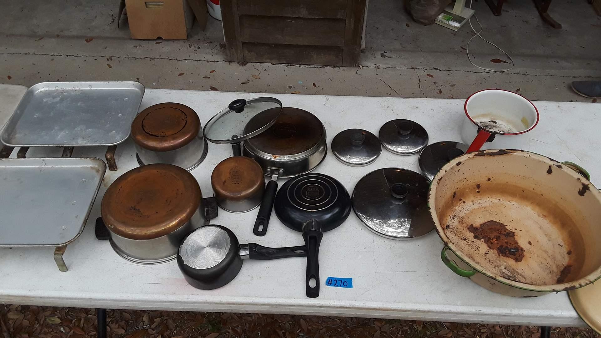Lot # 270 POTS AND PANS