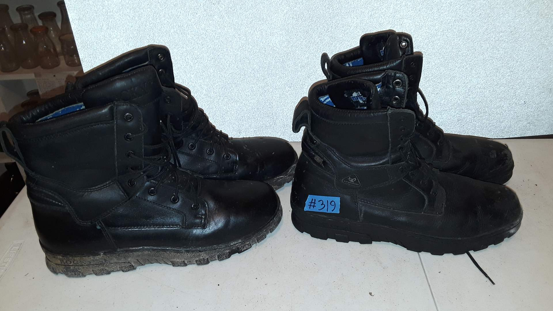 Lot # 319 TWO PAIRS OF ROCKY BOOTS, GOOD CONDITION, BOTH SIZE 11D