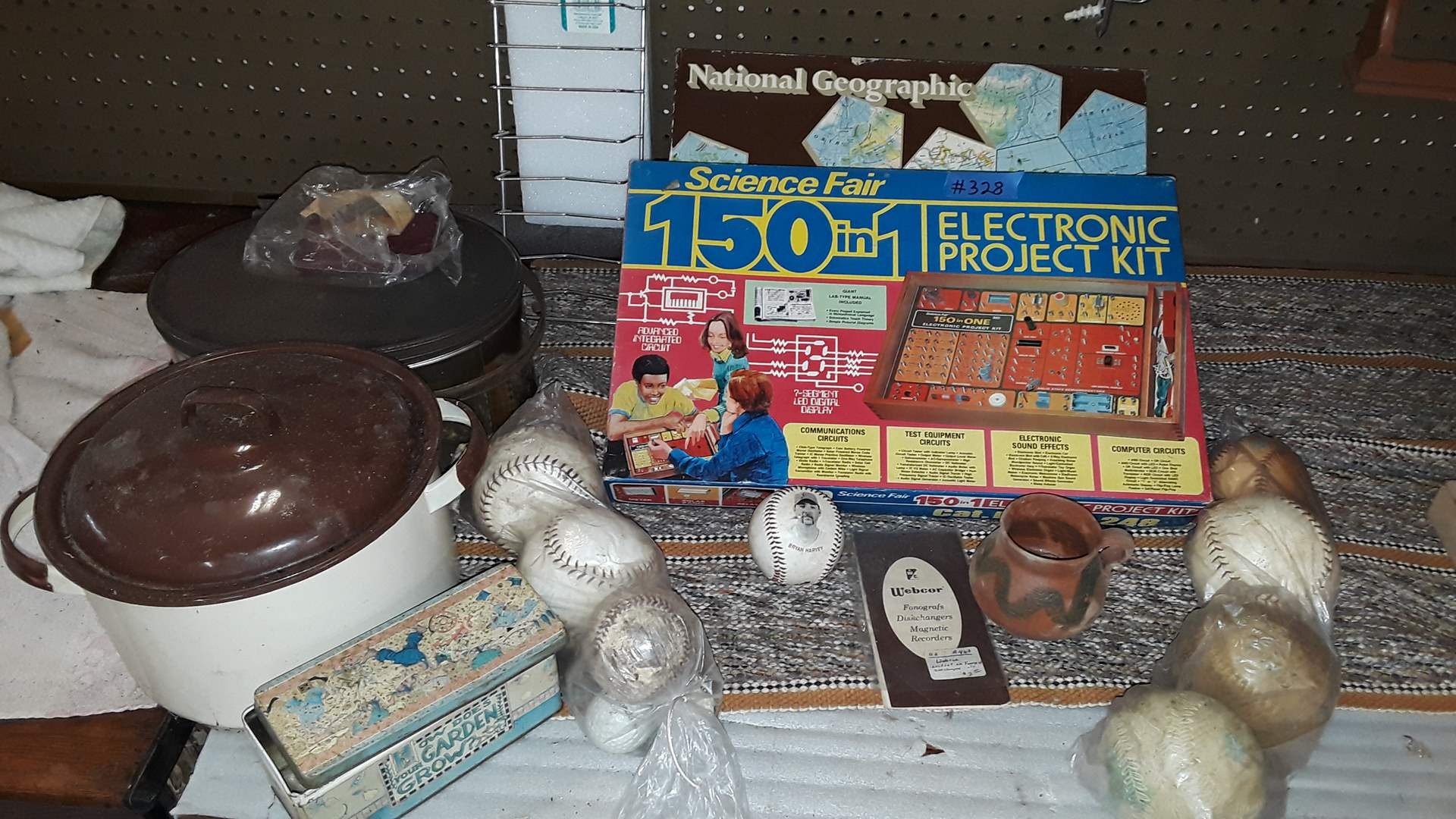 Lot # 328 SCIENCE FAIR ELECTRONIC PROJECTION SET, VINTAGE BASEBALL AND SOFTBALLS