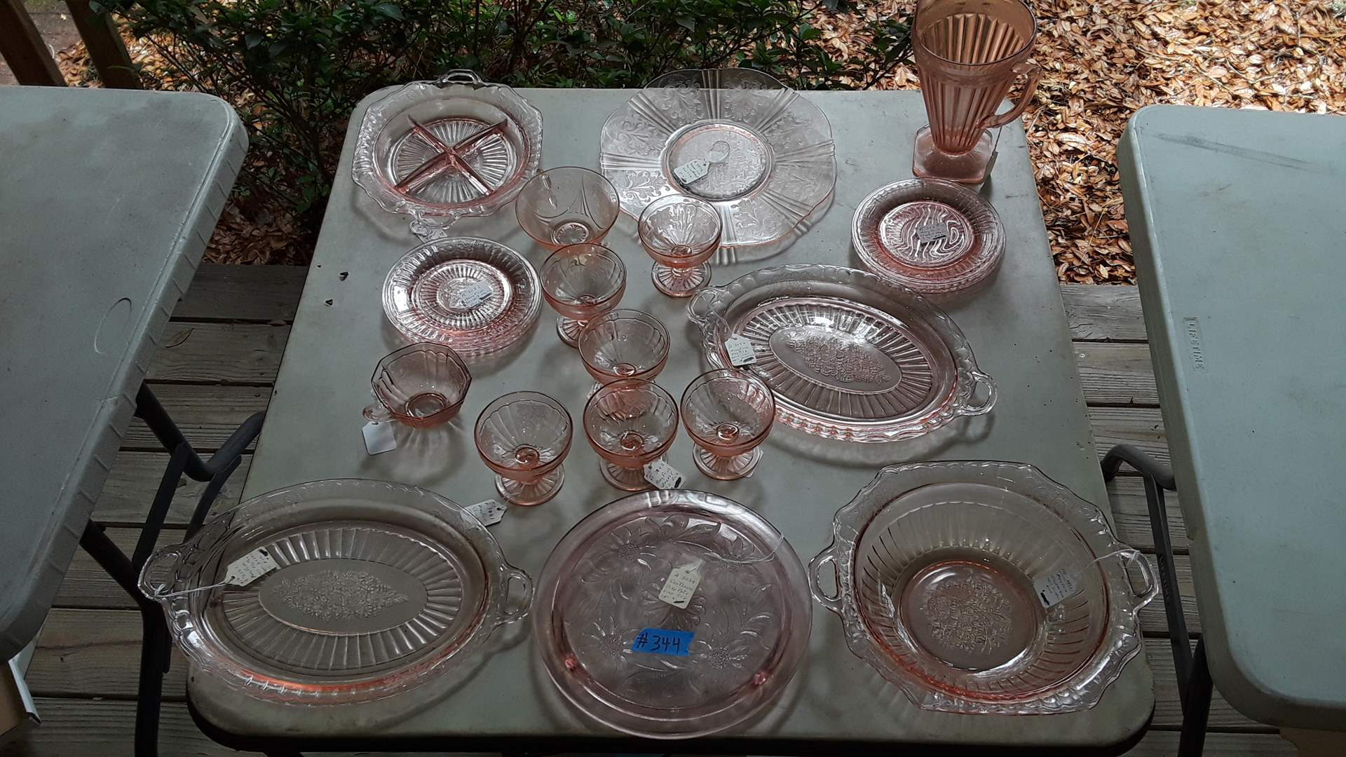 Lot # 344 PINK DEPRESSION GLASS, MAYFAIR, AMERICAN SWEETHEARTS