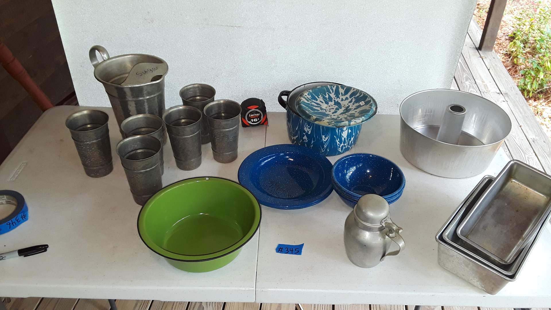 Lot # 345 ANTIQUE ENAMELWARE AND ALUMINUM SET BY GAILSTYN AND VIKO