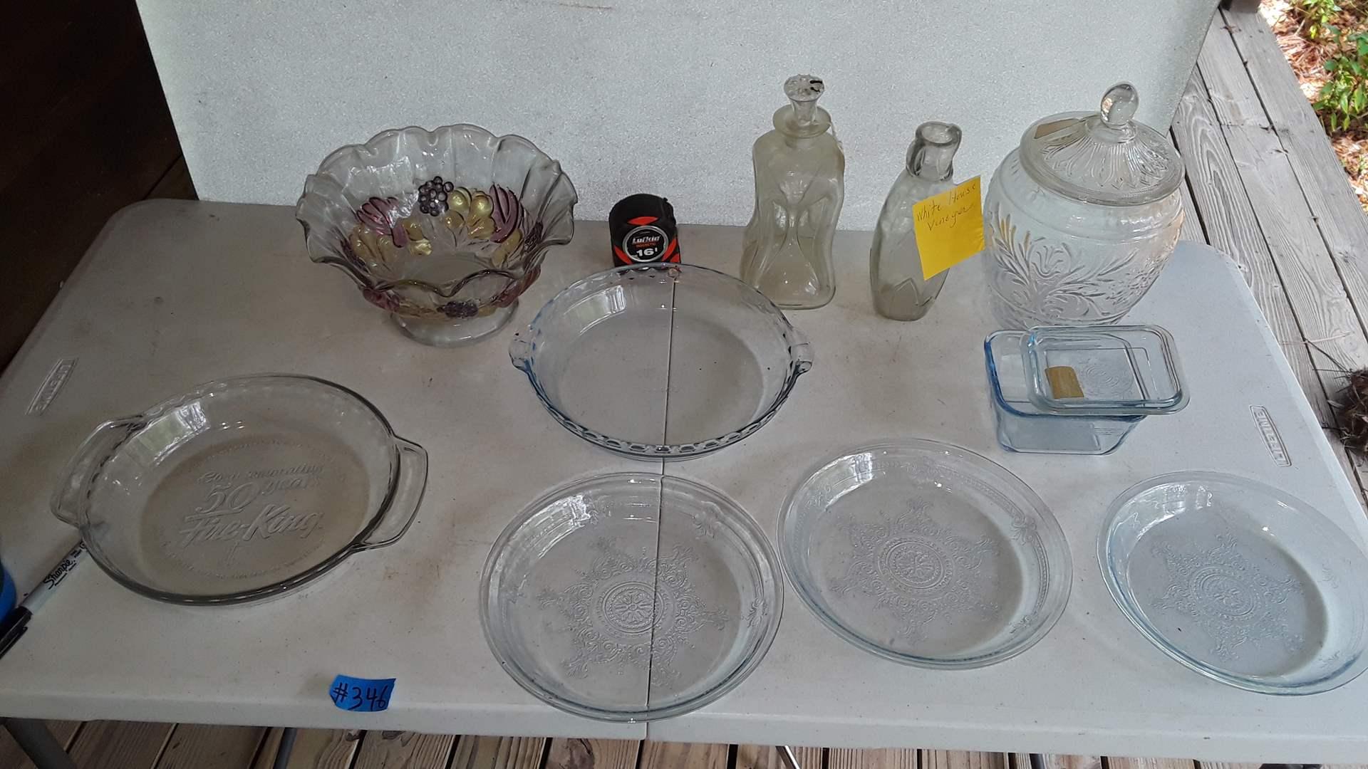 Lot # 346 ANTIQUE GLASSWARE, FIREKING 50TH ANNIVERSARY PIE PLATE