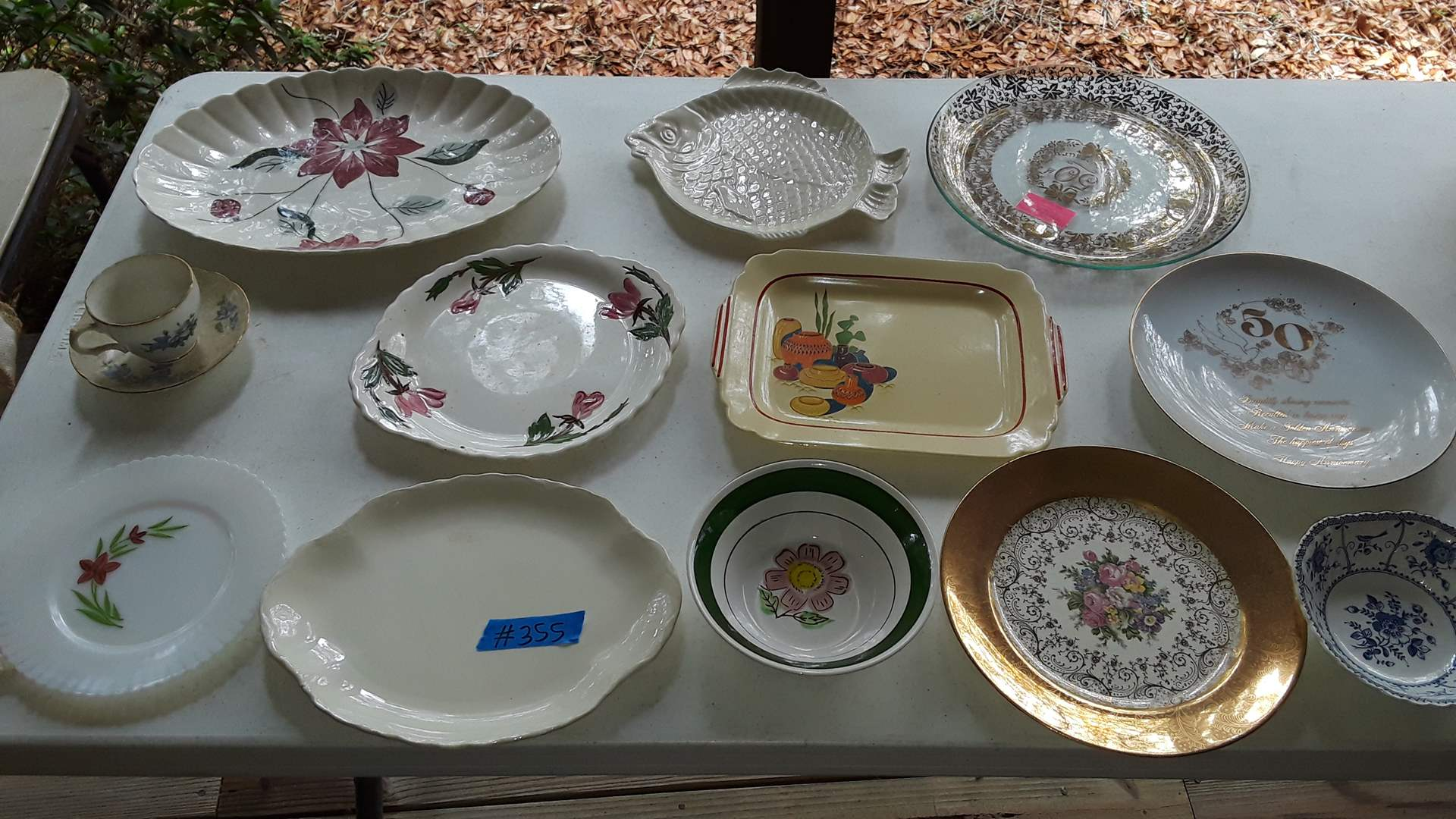 Lot # 355 VINTAGE PLATES AND PLATTERS, JOHNSON BROTHERS, 22K GOLD PLATE