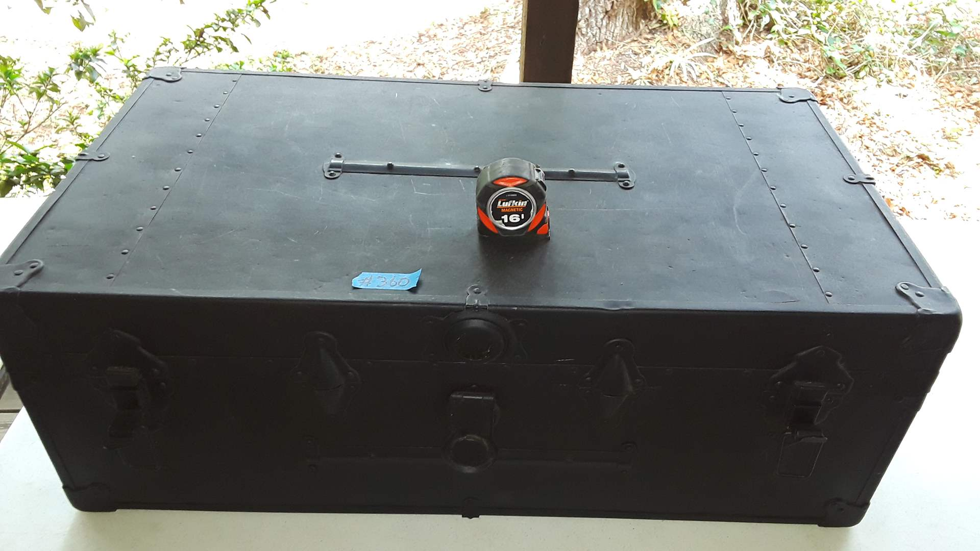 """Lot # 360 VINTAGE TRUNK, GOOD CONDITION, ABOUT 34"""" WIDE"""