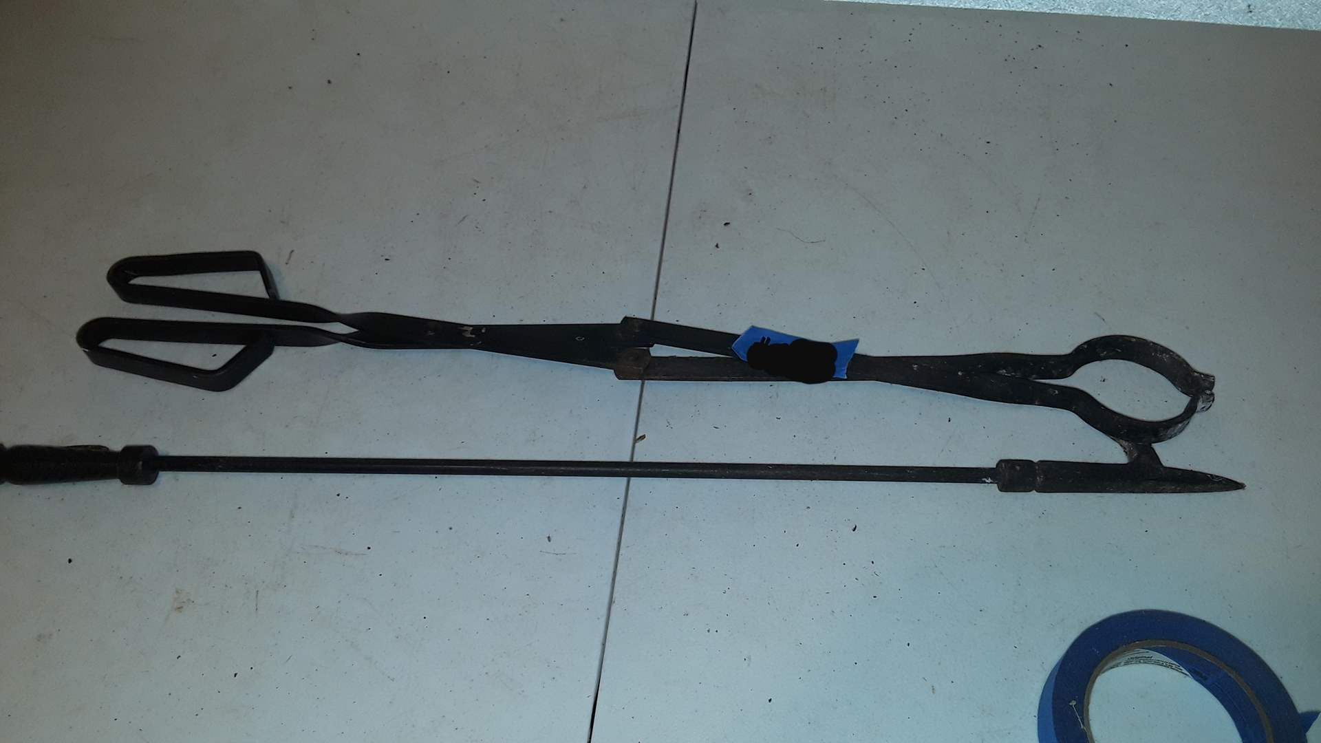 Lot # 383 FIREPLACE TOOLS GRABBER AND POKER