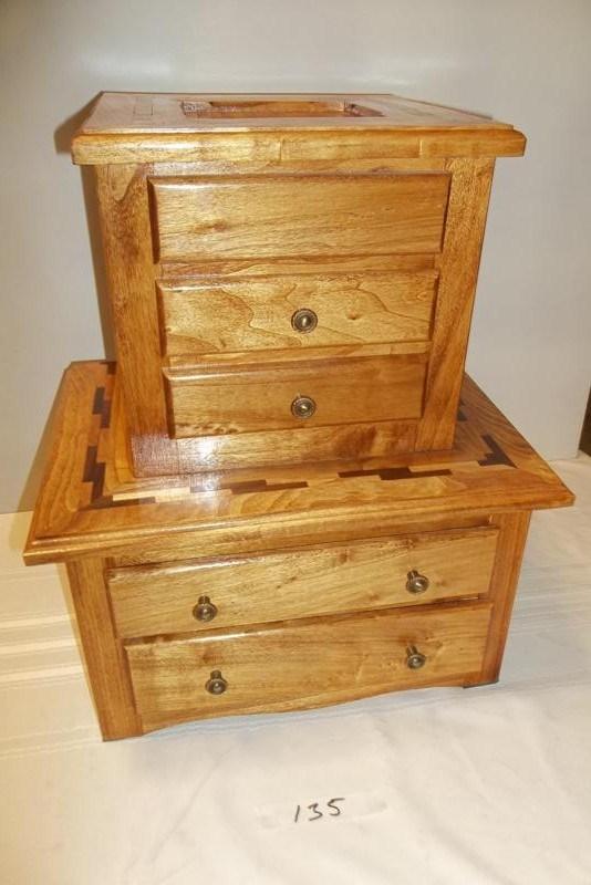 Lot #135 Hand Made Wood Jewelry Box (main image)