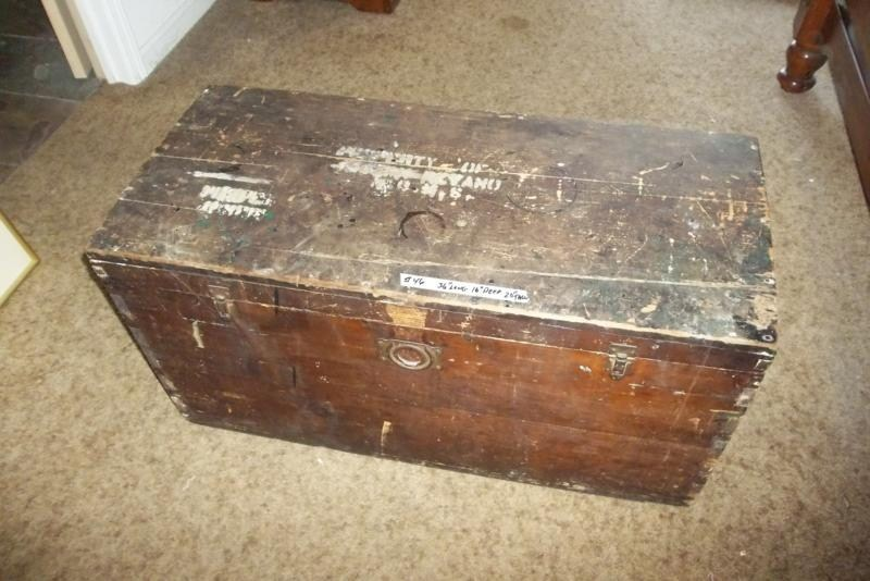 Lot #46 Old Wooden Trunk, Dovetailed (main image)