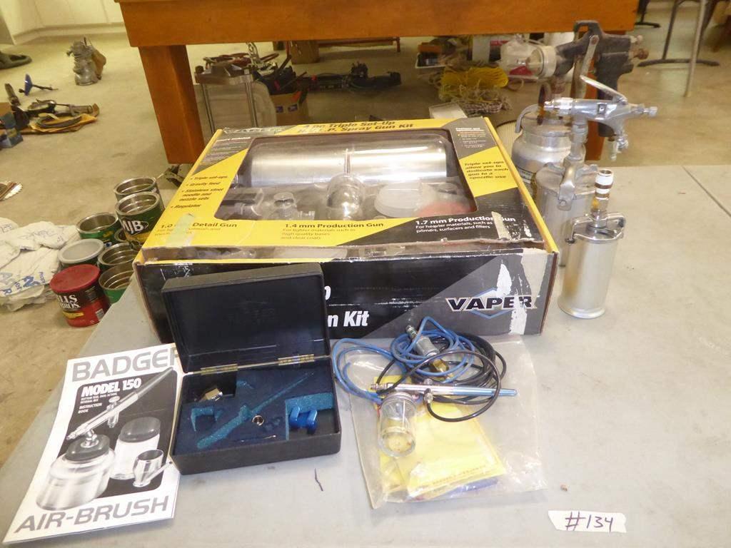 Lot # 134 - Spray Gun Kits & Spray Guns (main image)