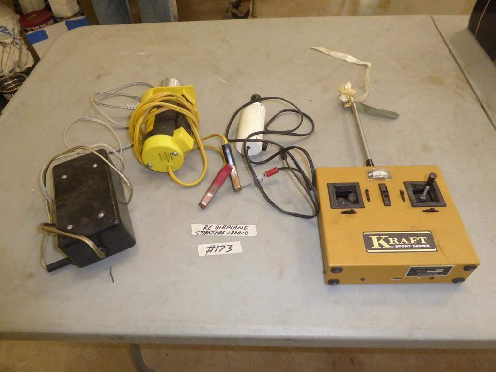 Lot # 173 - Radio Control Airplane Starters & Radio (main image)