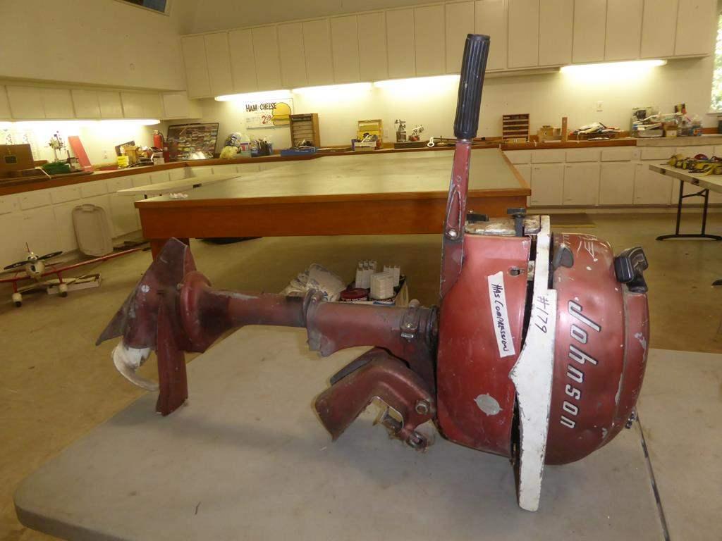 Lot # 179 - Johnson Sea Horse Boat Motor - Has Compression (main image)