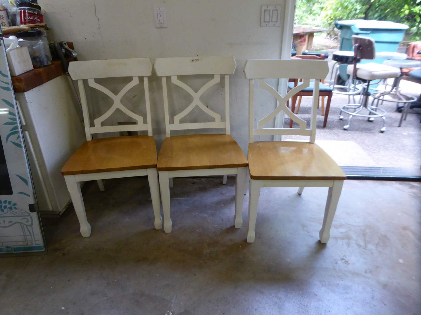 Lot # 35 - Three Wooden Dining Chairs  (main image)