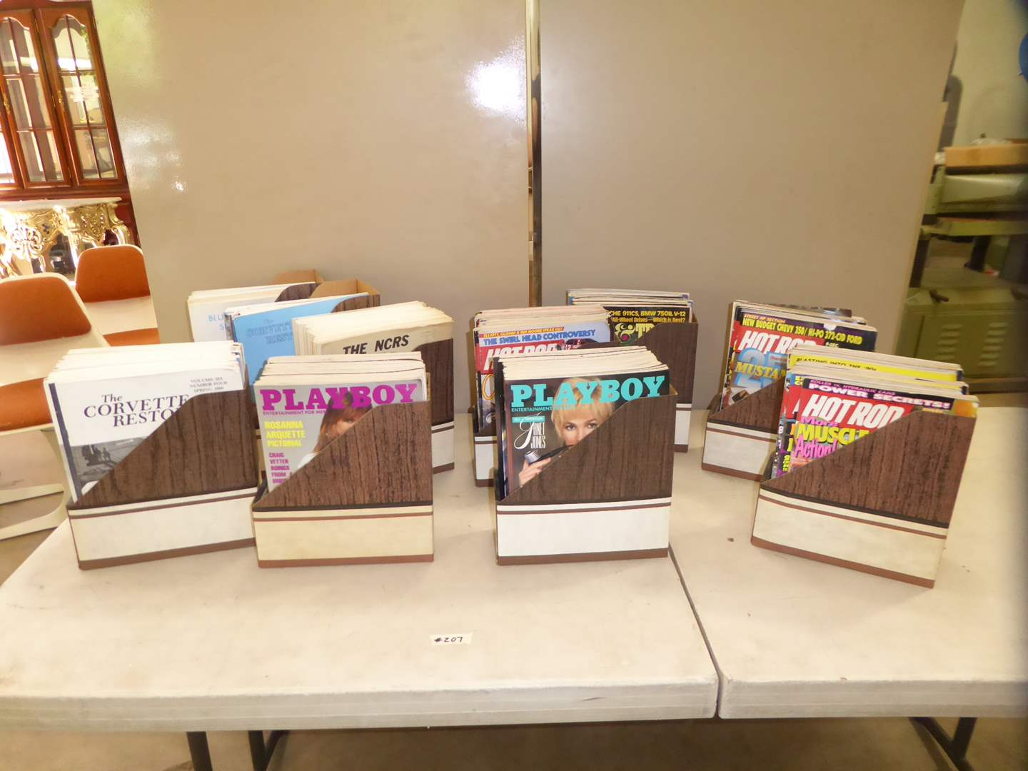Lot # 207 - 200 + Magazines - Blue Flame Special, Playboy, The Corvette Restorer & Road & Track  (main image)