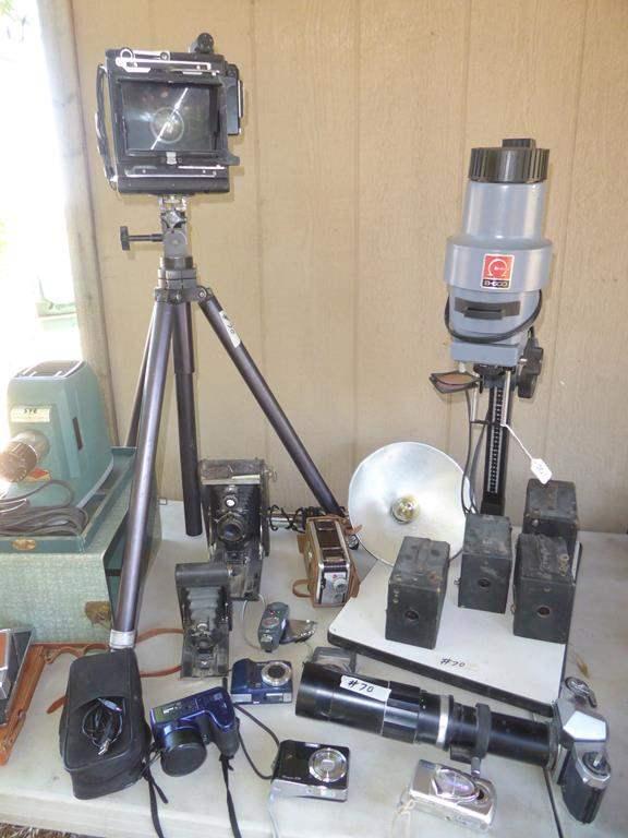 Lot # 70 - Vintage Camera Collection & Omega B-600 Enlarger (main image)