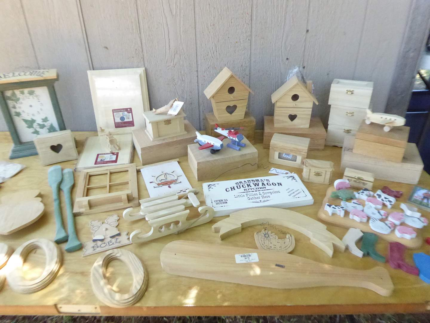 Lot # 13 - Woodworking Lot - Birdhouses, Boxes & More  (main image)