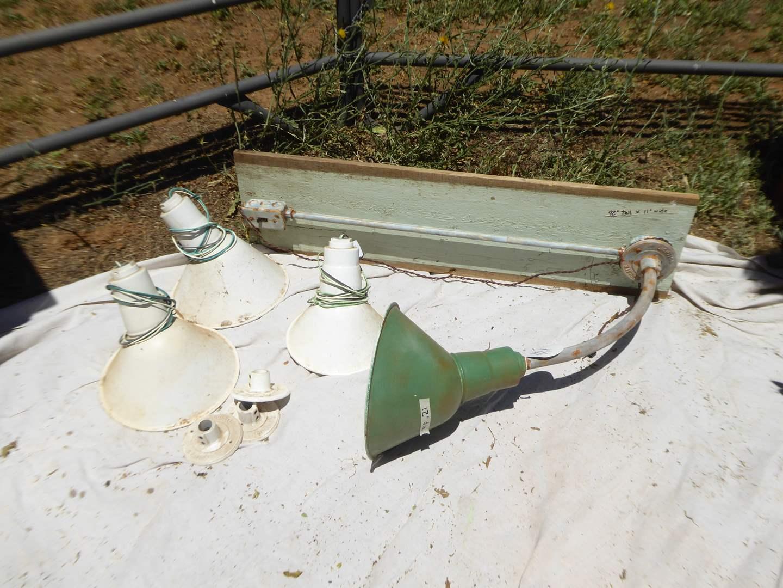 Lot # 14 - Vintage Abolite Angled Light Fixtures & Light On Board  (main image)