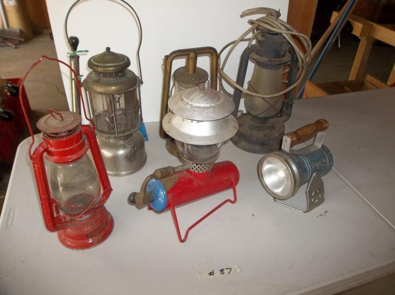 Lot #87 Vintage Lantern Lot (main image)