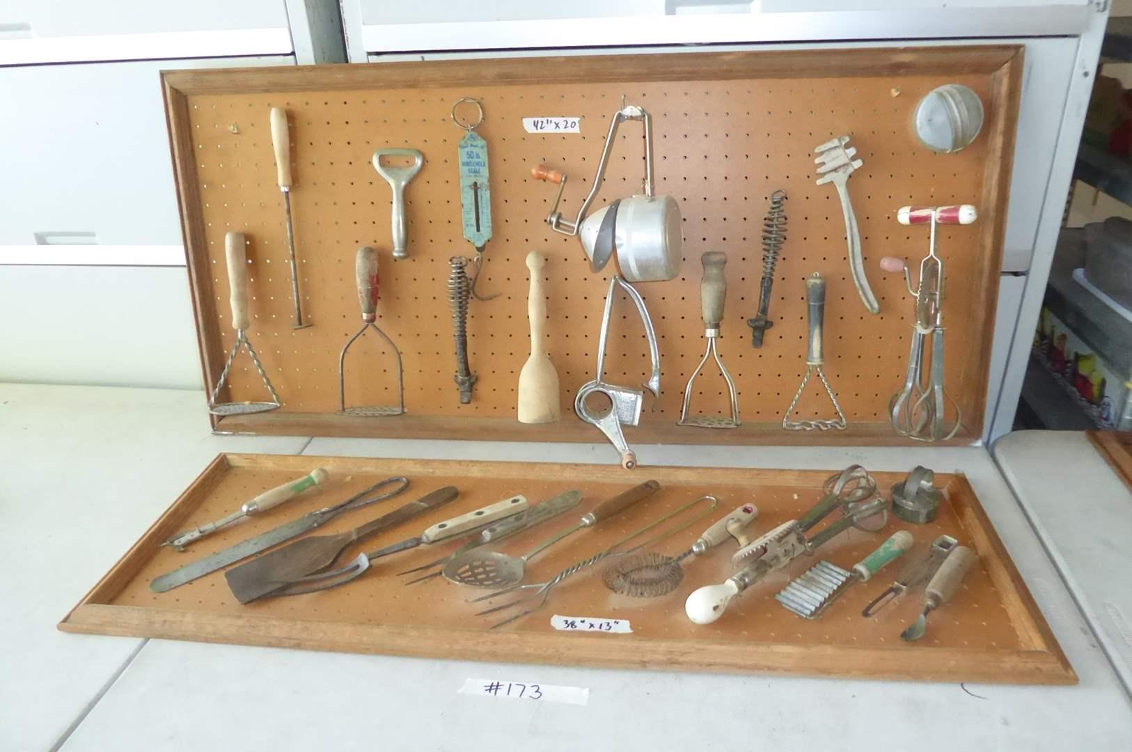 Lot # 173 - Cute Vintage Kitchen Utensils Wall Hanging   (main image)