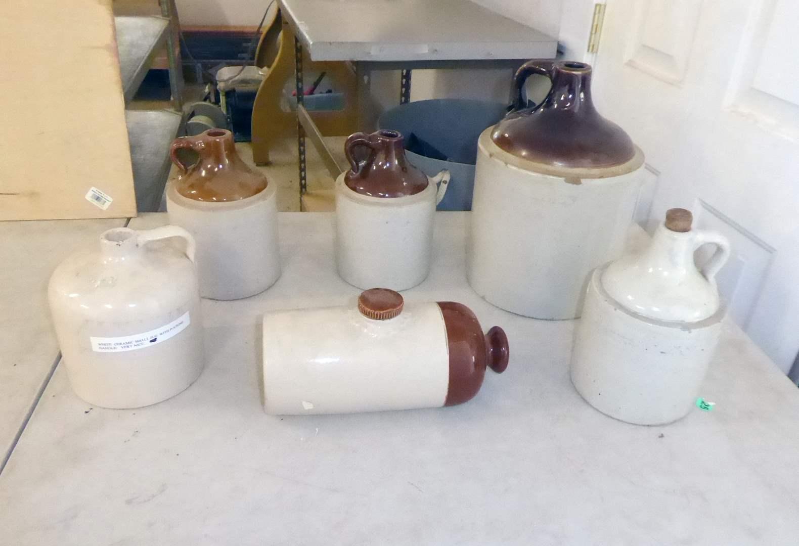 Lot # 191 - Six Stoneware Jugs  (main image)