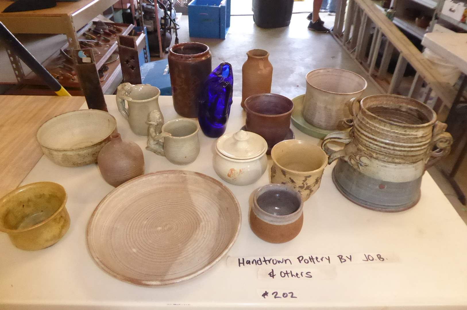 "Lot # 202 - Hand Thrown Pottery By ""JO. B.""  & Other Artists  (main image)"