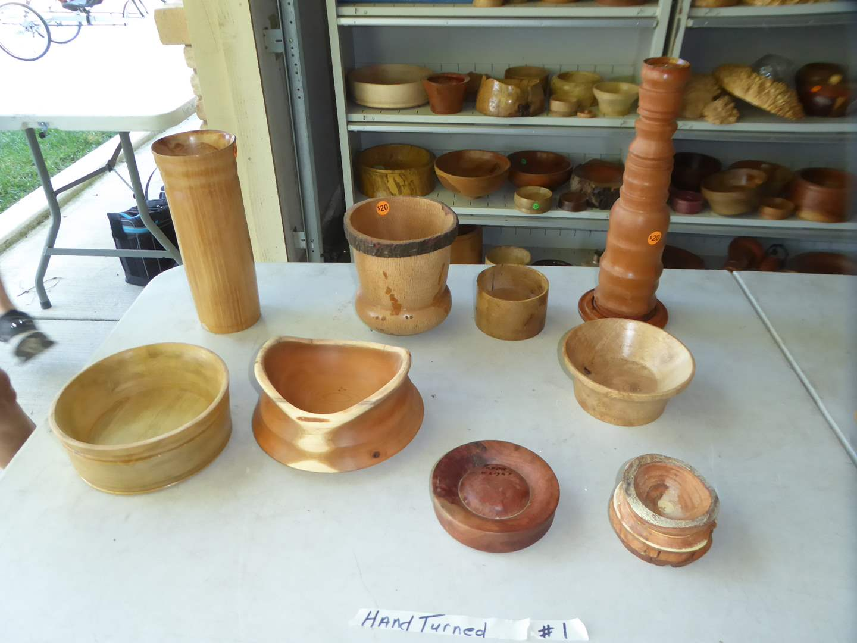 Lot # 1 - Hand-turned Wood Bowls & Vase  (main image)