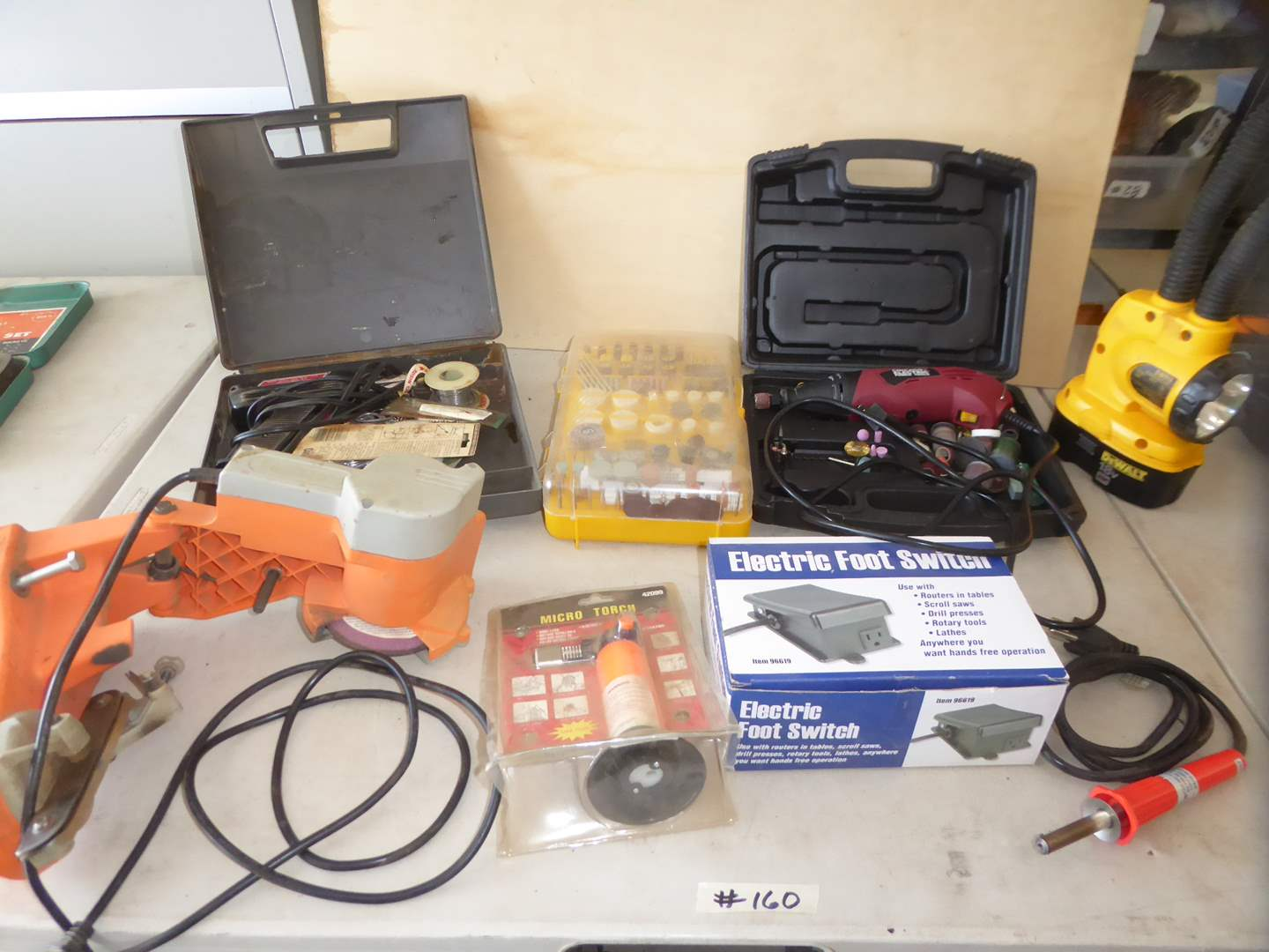 Lot # 160 - Rotary Tool W/Bits, Soldering Gun, Micro Torch & Electric Foot Switch (main image)