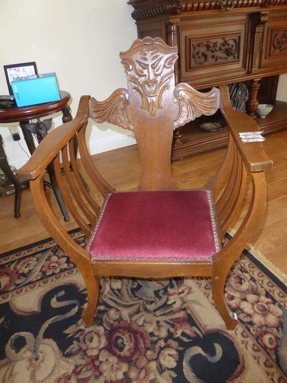 Lot # 54 - Wonderful Antique North Wind Throne Chair (main image)
