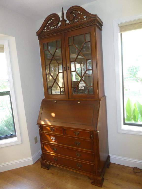 Lot # 56 - Fabulous Antique Wooden Two Piece Secretary Desk Hutch w/Dovetailed Drawers (main image)