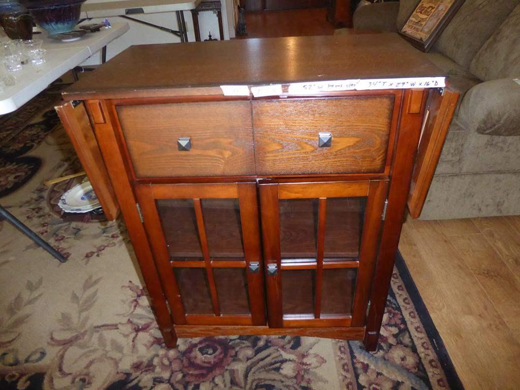 Lot # 73 - Vintage Style Wooden Bar Cabinet (main image)