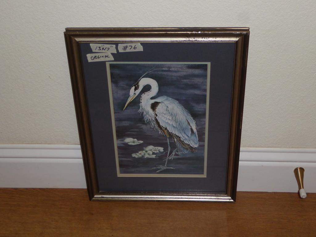 Lot # 76 - Framed Original Painting by D. McGuire (main image)
