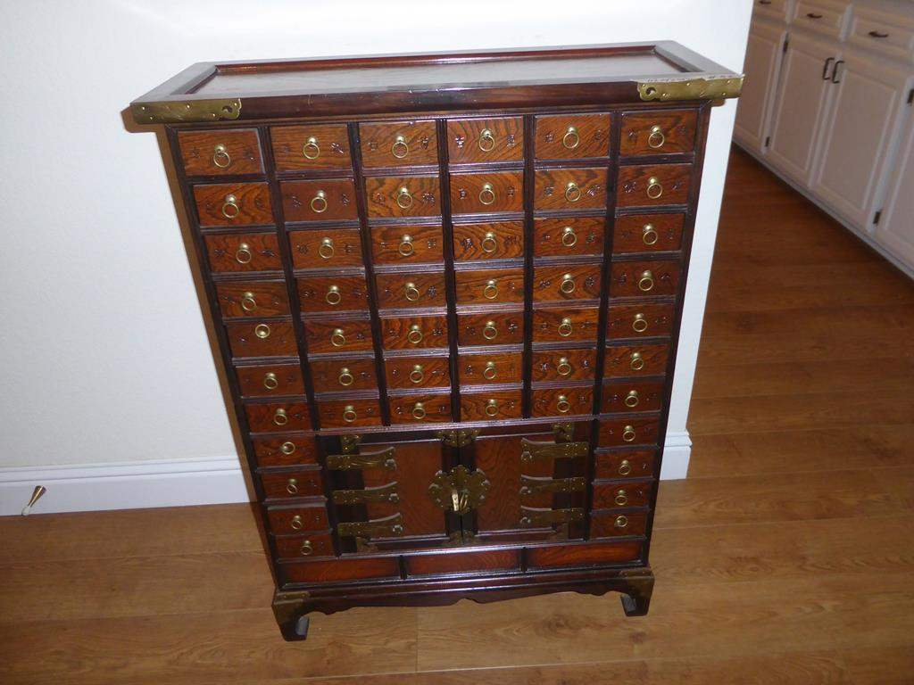 Lot # 83 - Wonderful Antique Asian Apothecary Cabinet Used For Herbal Medicine & Acupuncture Supplies - Circa  1900 (main image)