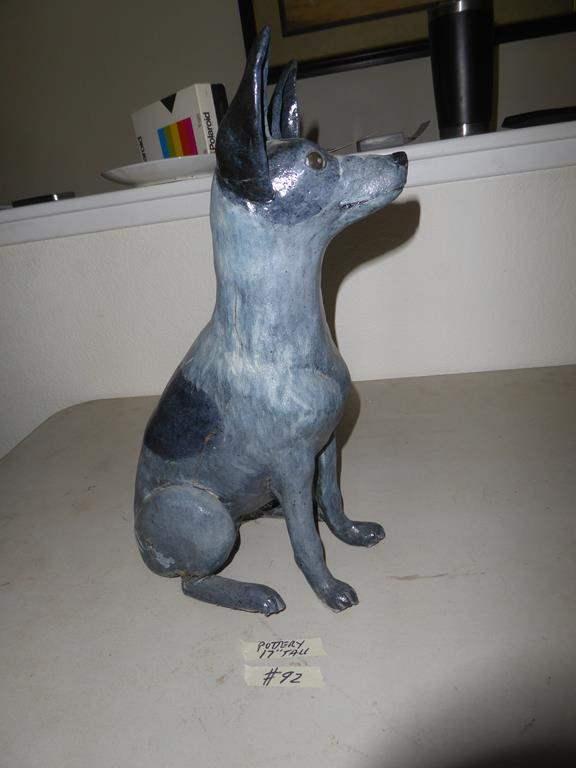 Lot # 92 - Cute Heavy Pottery Dog (main image)