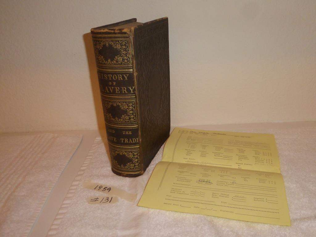 Lot # 131 - Antique 1859 History of Slavery Book (main image)