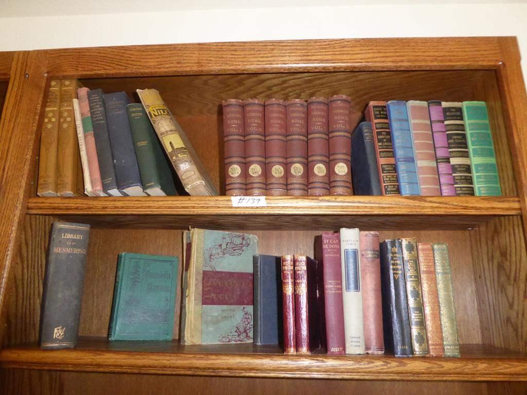 Lot # 139 - Antique / Vintage Book Collection (main image)