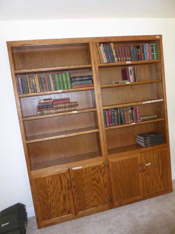 Lot # 145 - Pair Wooden Bookshelf Cabinets - Books Not Included (main image)