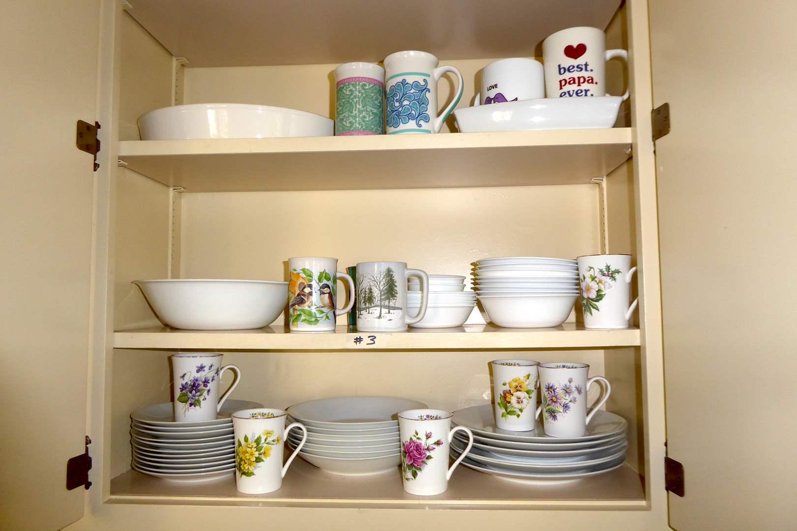 Lot # 3 - Miscellaneous Kitchen Dishes & Mugs  (main image)