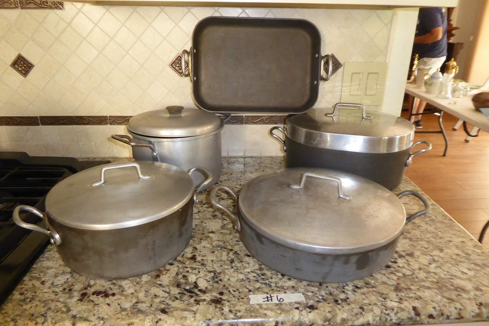 Lot # 6 - Magnalite Baking Pans & Mirro Aluminum Pot  (main image)