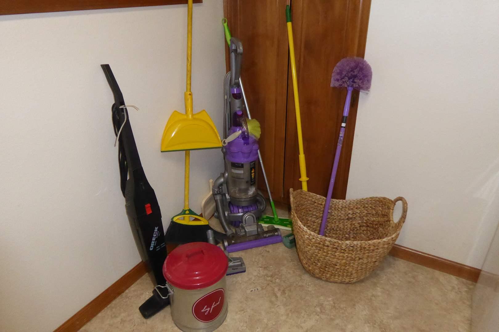 "Lot # 28 - Dyson ""The Ball"" Animal Vacuum, Oreck Dual Power Vacuum & More   (main image)"
