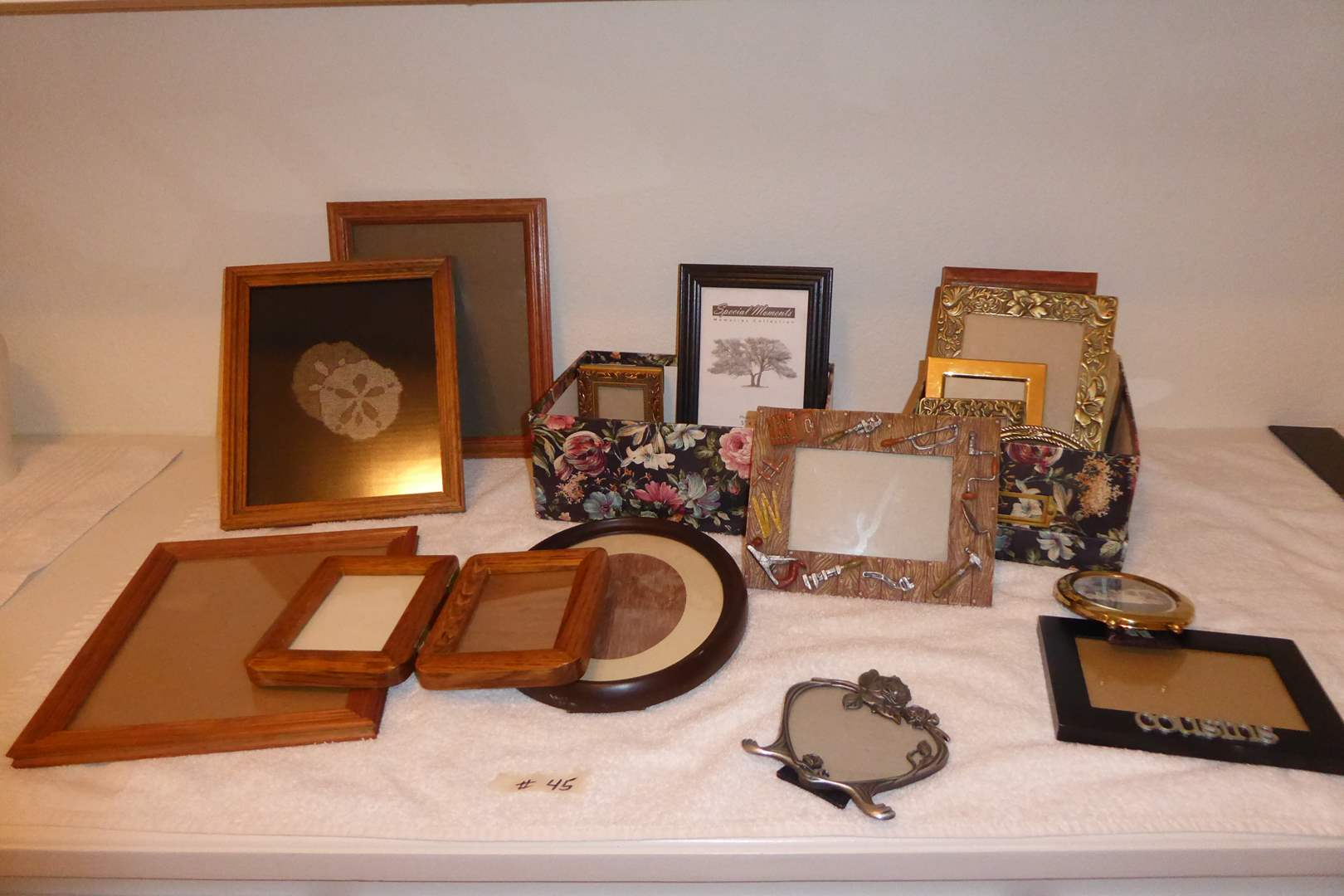 Lot # 45 - Miscellaneous Wood & Metal Frames  (main image)