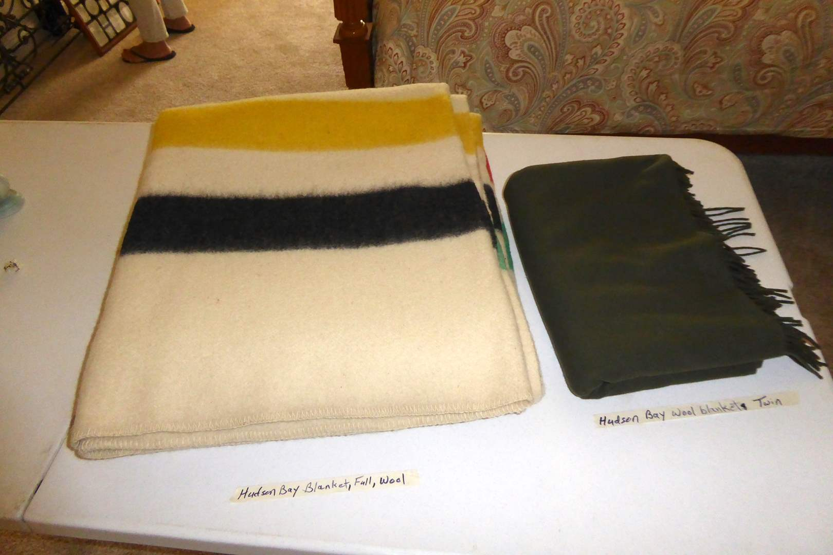 Lot # 200 - Hudson Bay Wool Blankets (Full & Twin)  (main image)