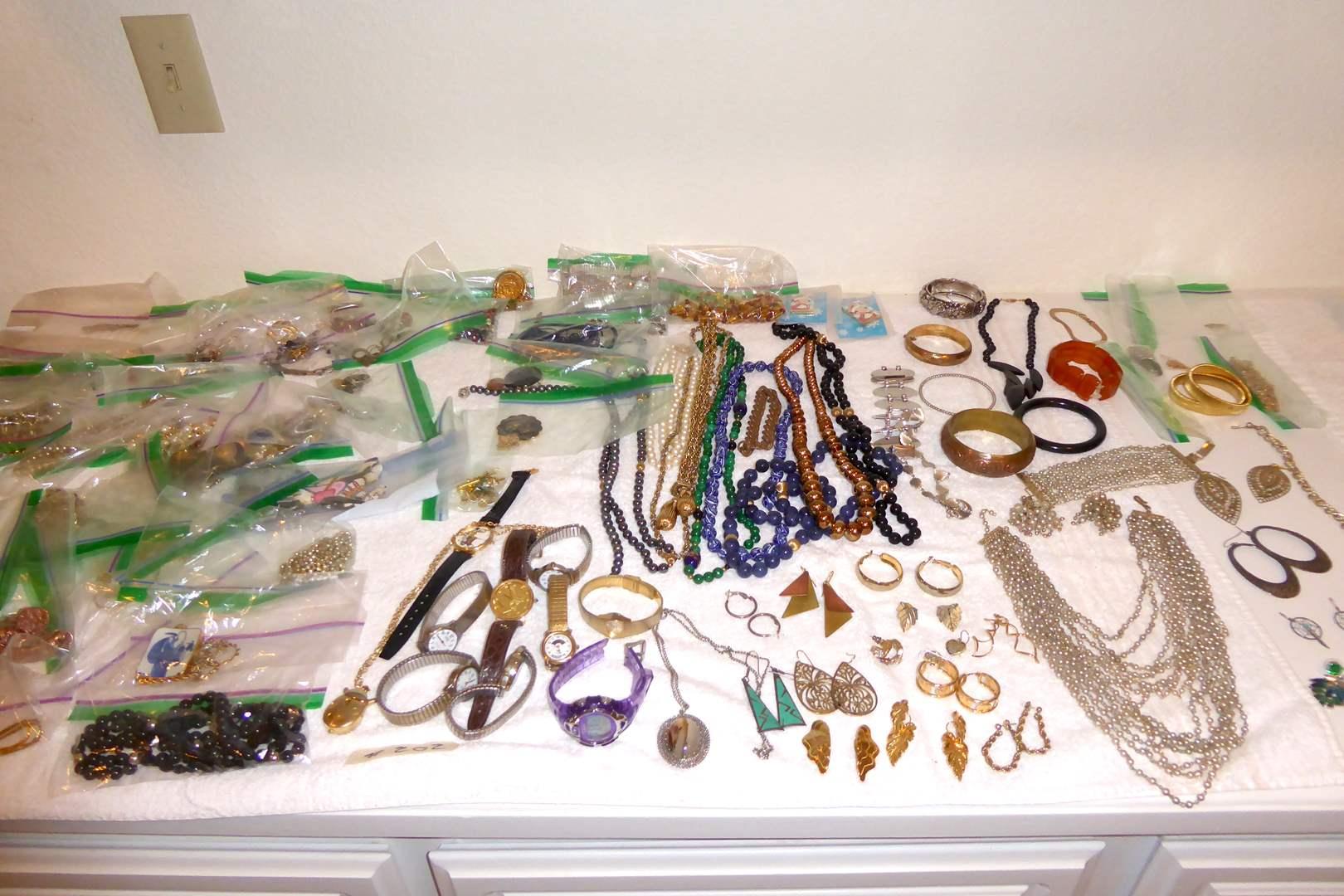 Lot # 202 - Fashion & Costume Jewelry & Watches  (main image)