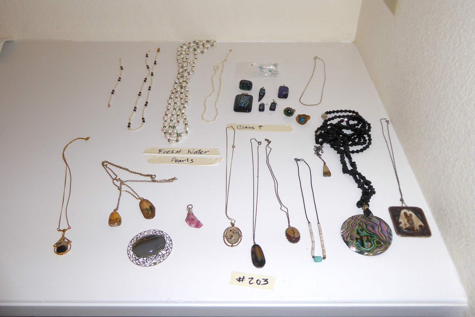 Lot # 203 - Lot Of Jewelry Including Freshwater Pearls, Glass & Stones  (main image)