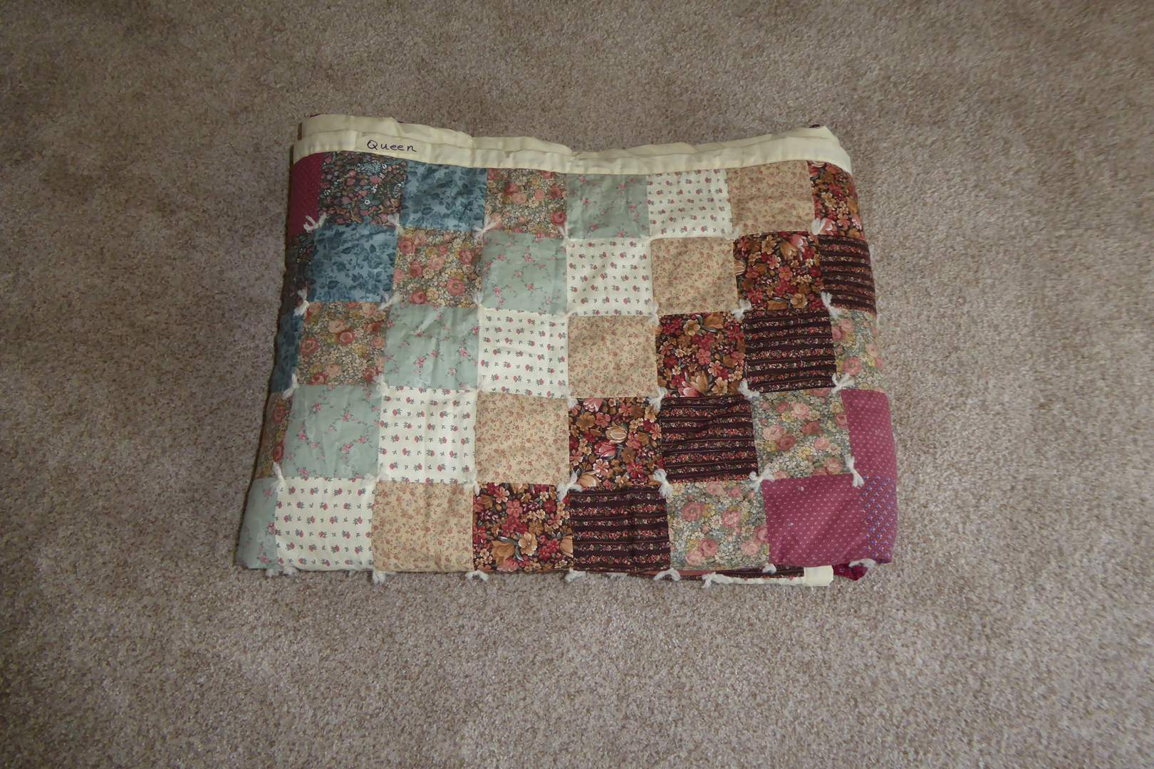 Lot # 210 - Handmade Quilt (Queen)  (main image)