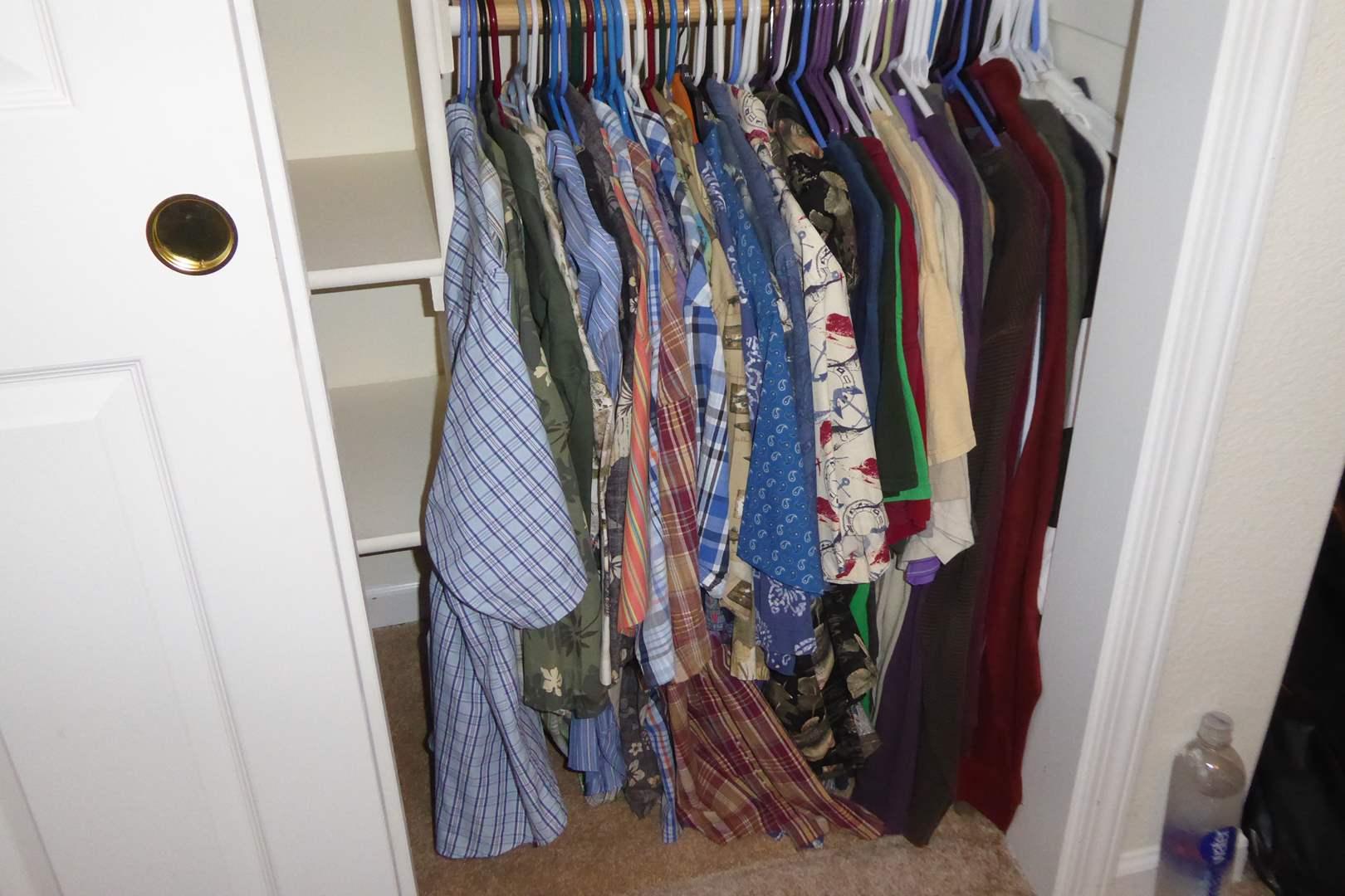 Lot # 227 - T-Shirts, Button Up Shirts & Polos (Mostly XL & Big & Tall)  (main image)