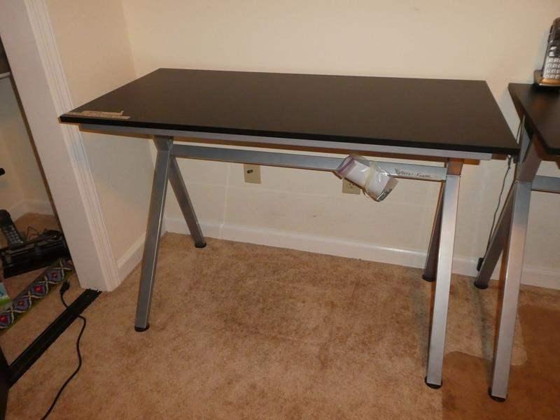 Lot # 259 -  Modern Desk w/ Metal Frame (main image)