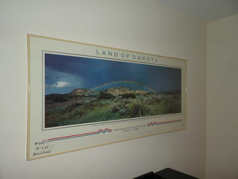 Lot # 263 - Land of the Dakotas Poster Behind Glass (main image)