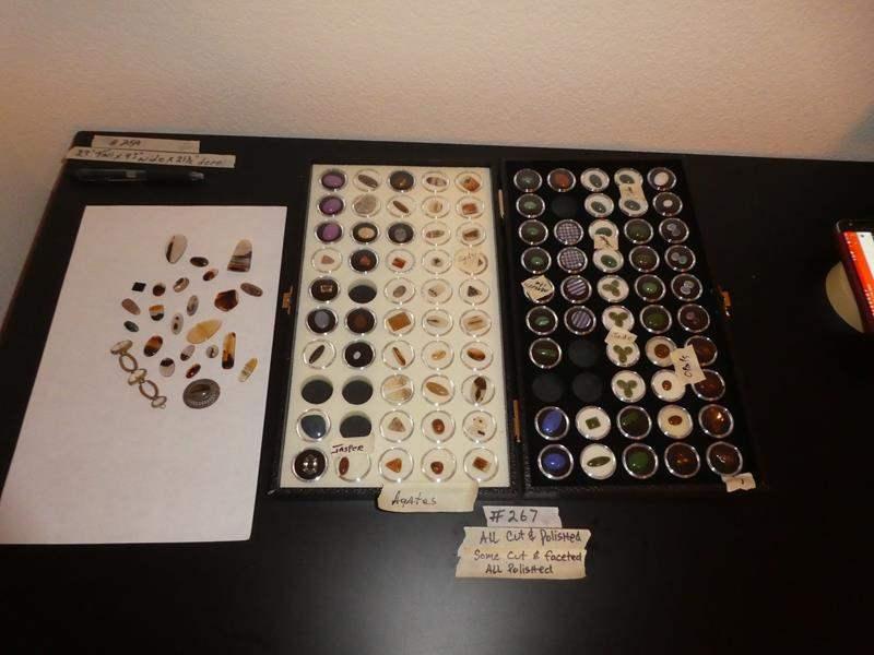 Lot # 266 - Semi Precious Polished Stones Jade Opals & more (main image)