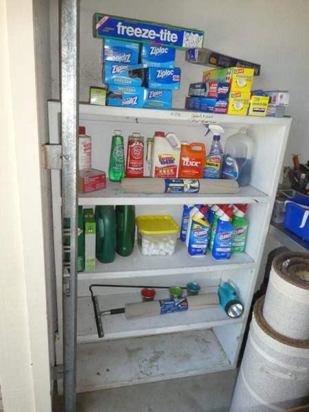 Lot # 276 - Garage Shelf & Household Supplies  (main image)